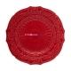 """Блюдо круглое 32 см красное, """"Рождественский цветок"""", Natal"""