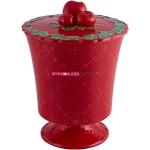"""Конфетница 24 см красная, """"Рождественская корона"""", Coroa de Natal"""