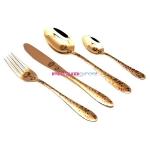 Набор столовых приборов Herdmar  ATLANTA 1 OLD GOLD, золото 24 предмета.