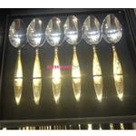 Набор чайных ложек Herdmar, KALIA, золотая ручка, 6 предметов