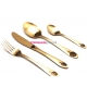 Набор столовых приборов Herdmar  ATLANTA 5 OLD GOLD, золото 24 предмета.