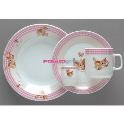 """Набор детской посуды """"Розовый зайчик"""""""