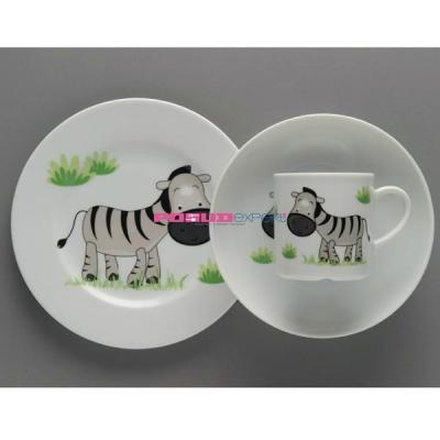 """Набор детской посуды """"Волшебная зебра"""""""