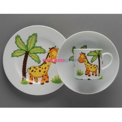 """Набор детской посуды """"Волшебный жираф"""""""