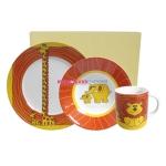 Набор детский из 3-х предметов (кружка, тарелка, пиала)