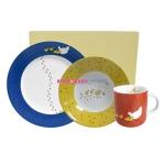 Детский набор из 3-х предметов (кружка, тарелка, пиала)