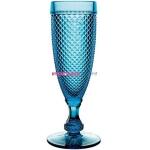 Набор бокалов для шампанского из 4-х штук  ATLANTIS GLASS BICOS 110 мл (голубой)