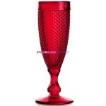 Набор бокалов для шампанского из 4-х штук  ATLANTIS GLASS BICOS 110 мл (красный)