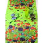 Шлейф 50*150 см (зеленый), Ягодная рапсодия